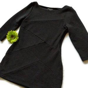 WH/BM Black Stretch Dress sz.M #299